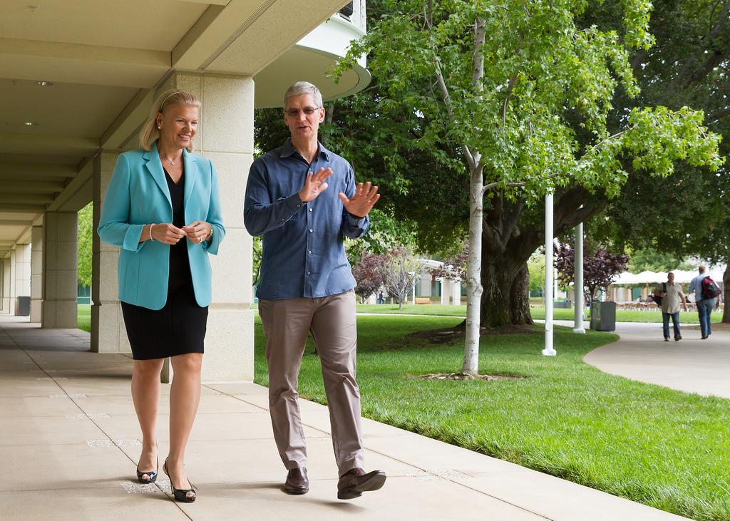 Haben einen echten Coup gelandet: IBMs Ginni Rometty und Apples Tim Cook.