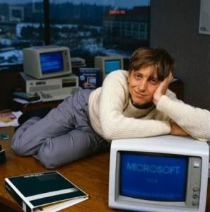 Da waren beide noch jung: Der PC hatte seinen Siegeszug noch vor sich und Microsoft-Gründer Bill Gates war noch nicht der reichste Mann der Welt.